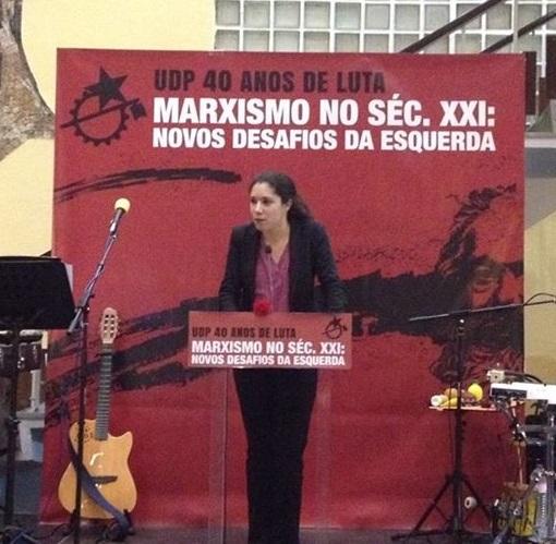 Joana Mortágua. 40 anos UDP. C Guedes
